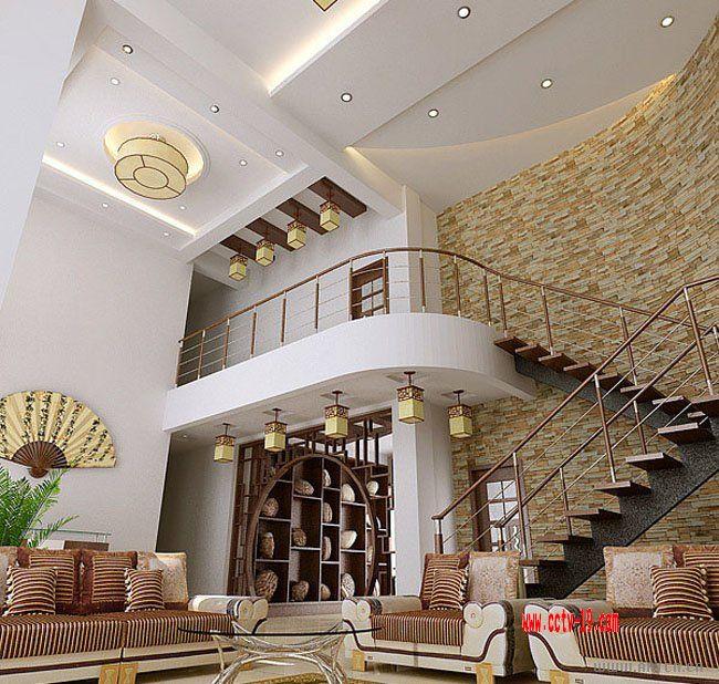复楼客厅楼梯效果图