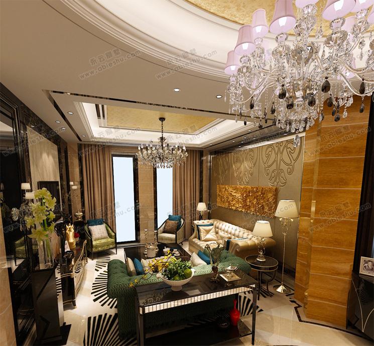 别墅室内豪华现代装修效果图