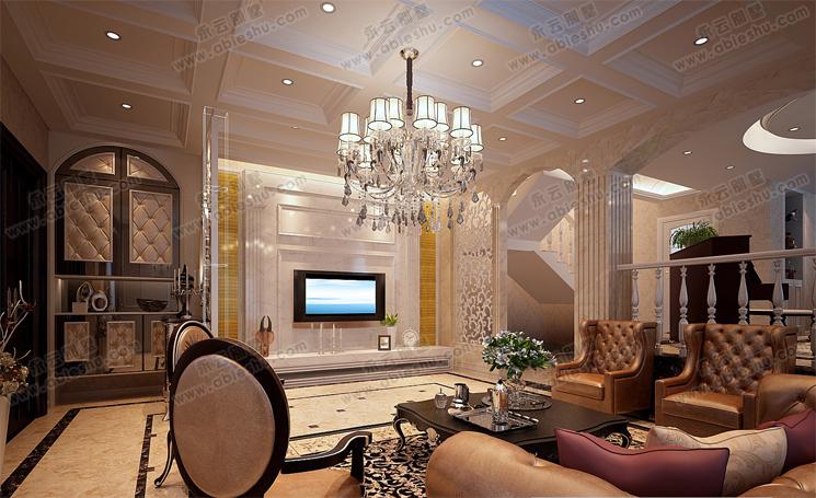 漂亮精装高档别墅室内设计效果图