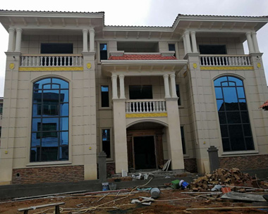 【施工案例】江西吉安李先生设计的兄弟双拼别墅实建案例欣赏