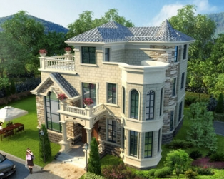 别墅设计图实建效果,建成后乡亲们好评不断