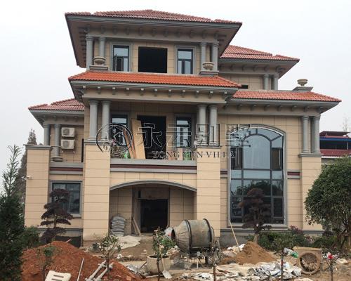 【实建案例】常德市安乡李先生AT1668三层豪华别墅案例图欣赏