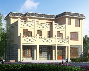 AS085成都黄先生三层中式风格平顶别墅设计图17.5mX11.2m