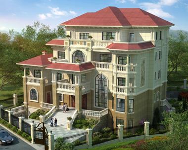 AS100娄底双峰县张总豪华四层带架空层别墅外观效果图设计欣赏