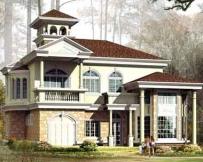 801二层新豪华别墅住宅设计图纸16m×12m