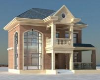 [永云别墅]AT272二层简欧式风格别墅住宅设计图纸12m×11m