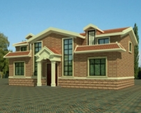 [永云别墅]AT295经济实用独幢砖混二层坡屋顶别墅全套图纸14m×8m