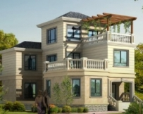 AT101新农村三层优雅大气别墅建筑设计图纸10m×17m