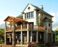 644三层豪华别墅建筑带屋顶花园13m×18m