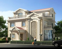 【永云别墅】AT918三层豪宅大型装电梯别墅设计图纸15m×15m