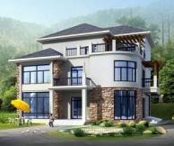 [永云别墅]AT125三层带屋顶花园双车库别墅全套图纸13m×13m