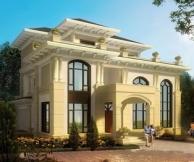 【永云别墅】AT017三层复式大厅豪华别墅设计全套建筑施工图纸18m×20m