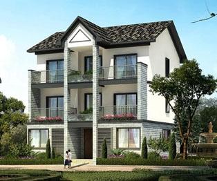 at985三层新农村自建房住宅带车库房屋设计图纸 10m×