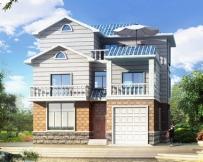 永云AT083三层带车库露台豪华别墅设计全套施工图纸11.1m×12.9m