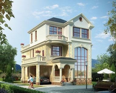 永云别墅AT209三层欧式简洁大露台2018三层别墅设计图纸.9mx13.2m