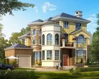 永云别墅AT258三层高端豪华欧式别墅建筑设计图纸14mx12.2m
