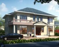 永云别墅AT277二层现代风格豪华别墅建筑设计图纸15.8mx13.8m