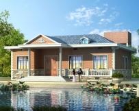 永云别墅AT225农村一层小别墅套房式房屋设计施工图纸15.6mx15m