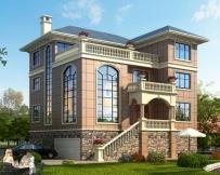 永云别墅AT1625三层带架空层别墅全套建筑施工图纸12.6mx12.2m