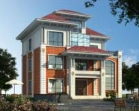 永云别墅AT1679漂亮实用带观光台三层别墅设计图纸13mx10.5m