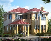 永云别墅AT1633二层现代豪华带车库别墅建筑设计图纸15mx16.6m