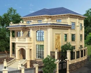 永云别墅AT1699厦门欧式三层豪华定制设计别墅建筑设计图纸15.8x16.1