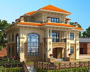 永云别墅AT1700三层高档复式楼中楼别墅全套建筑设计图纸13.2mx12.4m