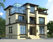 永云别墅AT1712三层带地下室新亚洲风格别墅设计图纸12mx10m