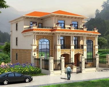 永云别墅AT1721三层豪华双拼复式楼中楼别墅设计图纸16mx14.2m