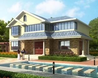 AT1608占地120平米二层精致简欧别墅全套设计图纸14mx10m