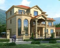 【送装修图】AT1631新农村豪华复式楼中楼三层别墅全套图纸17.7mX13.2m
