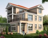 AT1771三层漂亮现代风格带屋顶花园复式楼中楼别墅设计图纸12.6mX13.5m