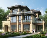 新亚洲带内庭院AT1778三层高端大气别墅设计全套图纸13mX19.5m