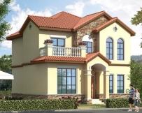 永云别墅AT1789二层漂亮私人自建小别墅设计图纸10.7mX10.5m