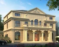 永云别墅AT1785二层半法式风格别墅设计施工图纸16.2mx13m