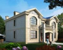 AT1766二层简欧前后门廊带堂屋别墅全套施工图纸14.4mX12.3m