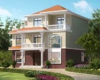 AT1816农村三层简洁实用型别墅设计全套施工图纸12.5mX12.4m