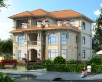 AT1810三层豪华大气欧式别墅/室内错层别墅设计全套图纸14.6mX15.6m