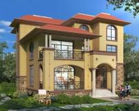 AT1803带休闲走廊三层豪华大气欧式别墅设计图纸14.1mX16.2m