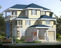 永云别墅AT1821私人三层复式带车库别墅设计施工图纸12.7mX18m
