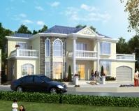 AT1828二层复式楼中楼别墅设计带双车库全套施工图纸及效果图27mX14m
