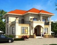 2019年新款AT1831豪华大气二层欧式别墅设计全套施工图纸15mX15m